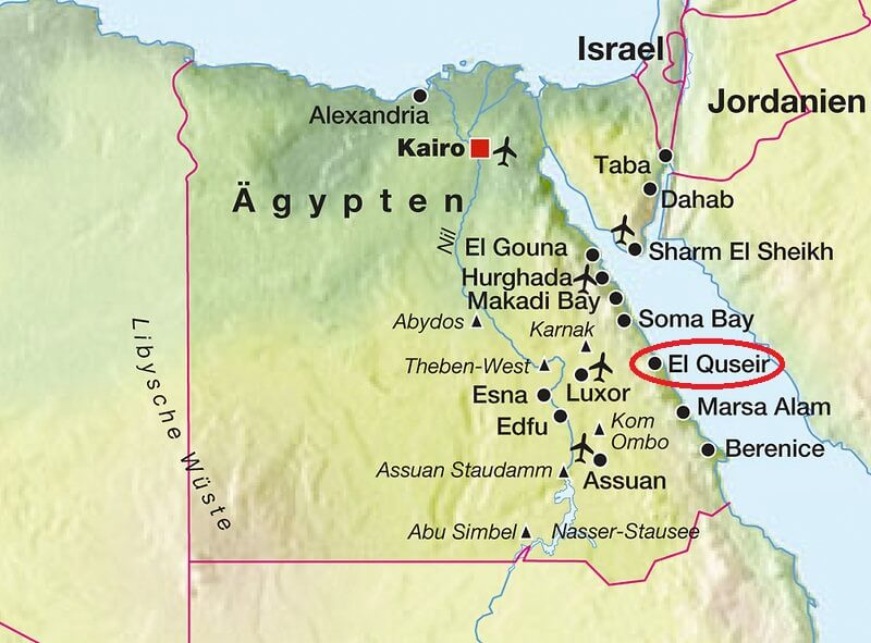Karte ägypten Sharm El Sheikh.El Quseir Ortsinformationen Egypt Sea Explorer